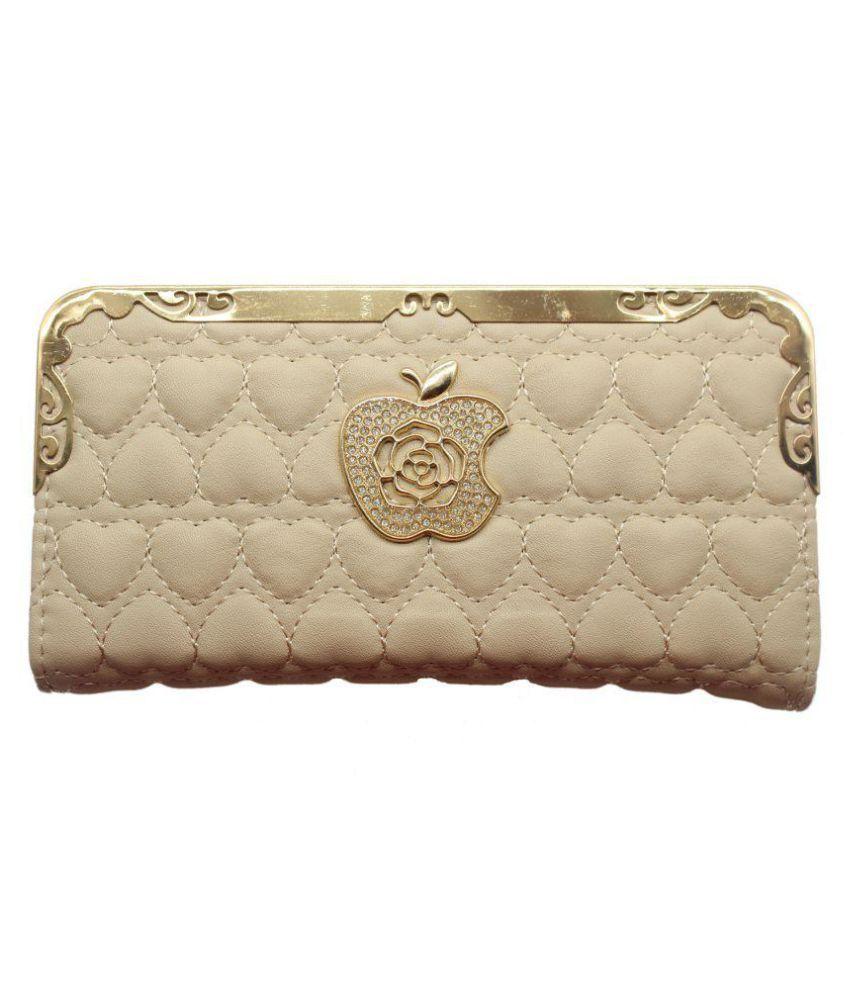 Trendy Beige Wallet