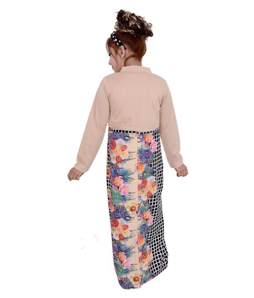 803235bcd071 Gungun Creations Velvet Multicolor Gown with Koti - Buy Gungun ...