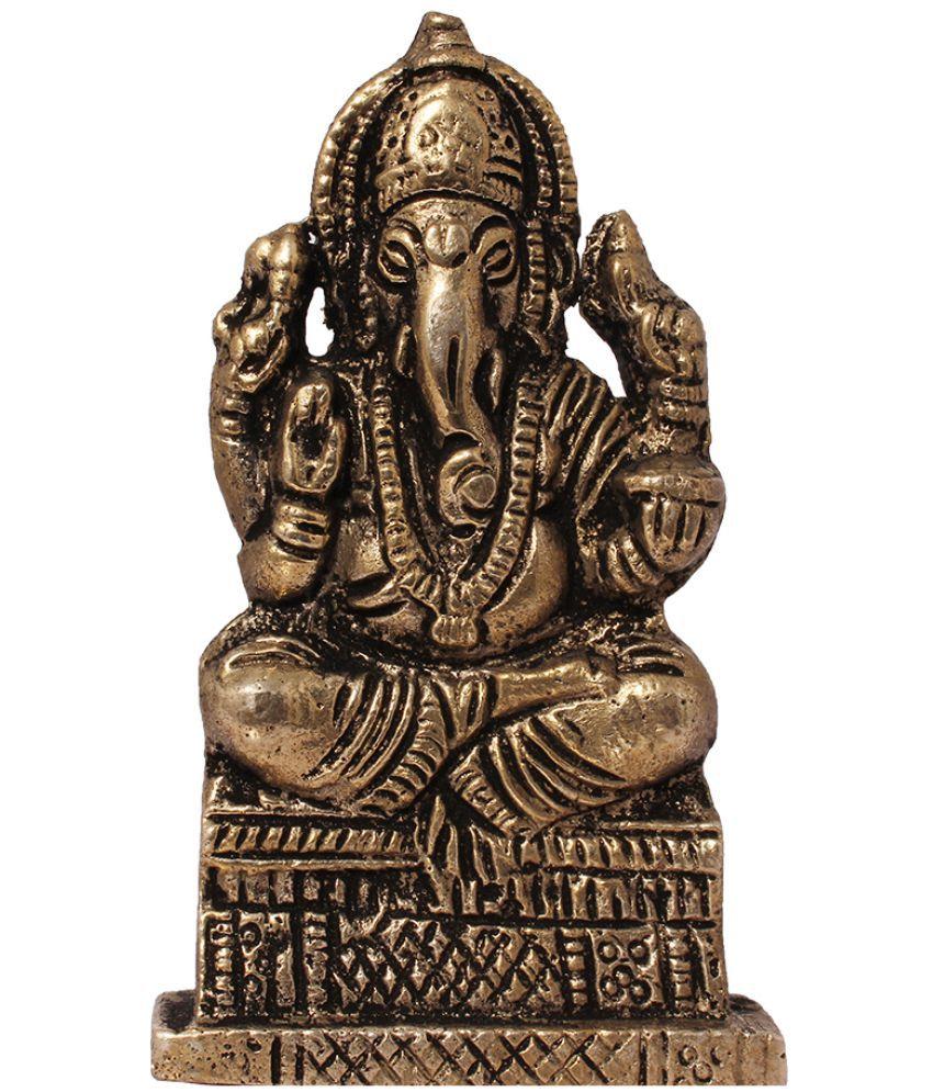 Art N Hub Ganesha Brass Idol