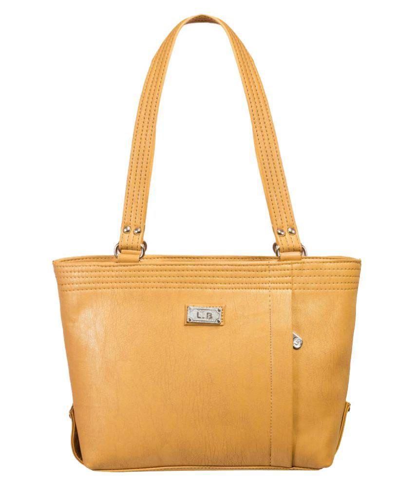Louise Belgium Beige Faux Leather Shoulder Bag