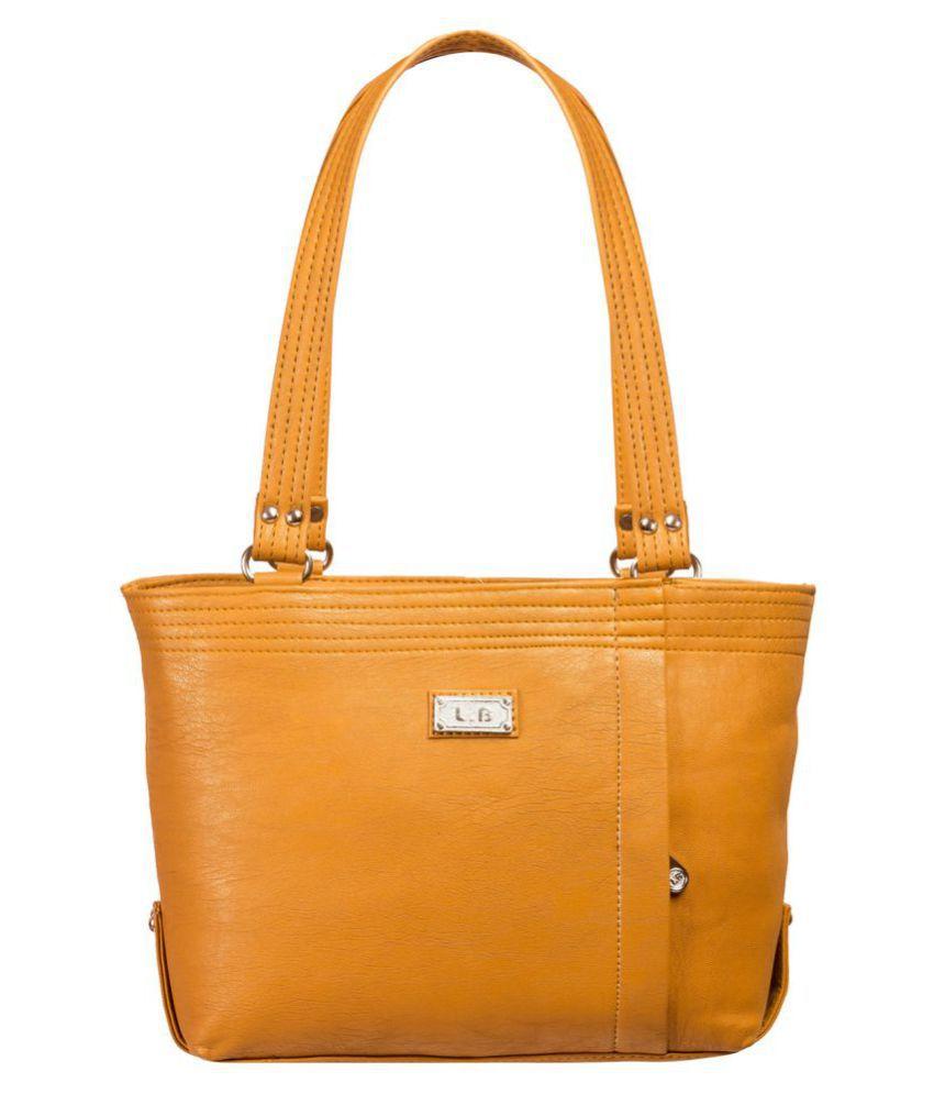 Louise Belgium Yellow Faux Leather Shoulder Bag