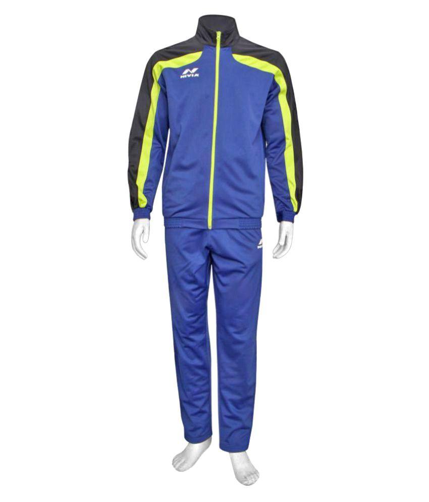 Nivia Navy Blue Track Suit SP-03