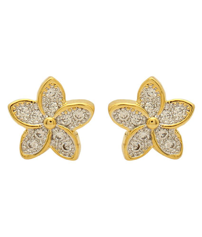Voylla Golden Stud Earrings