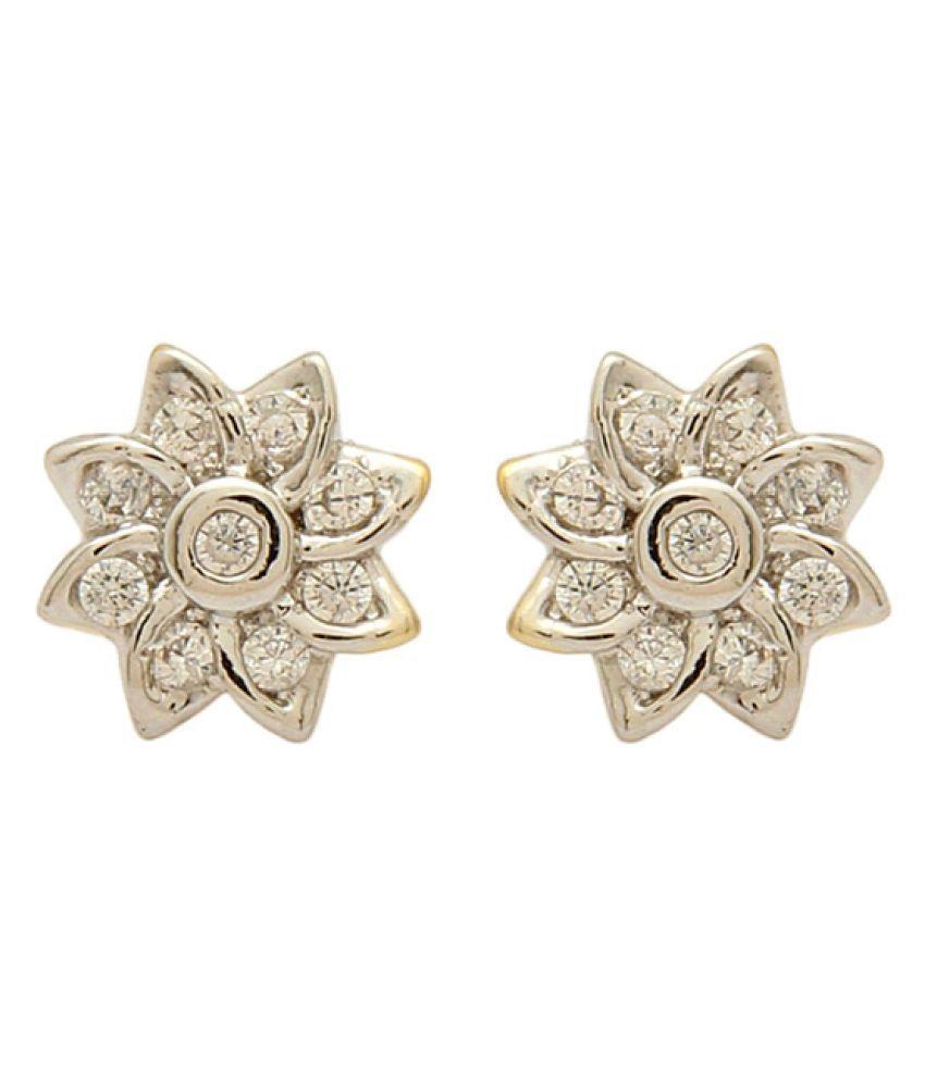 Voylla White Stud Earrings