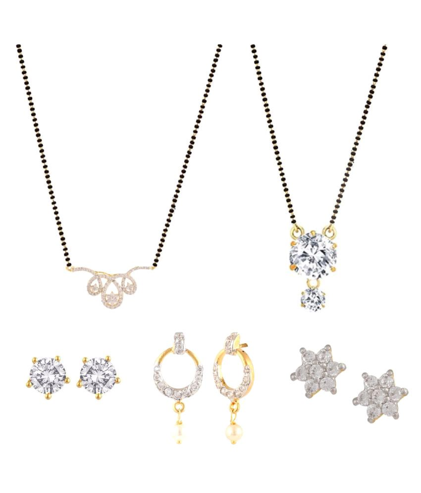 Archi Collection Gold Plated Mangalsutra Combo