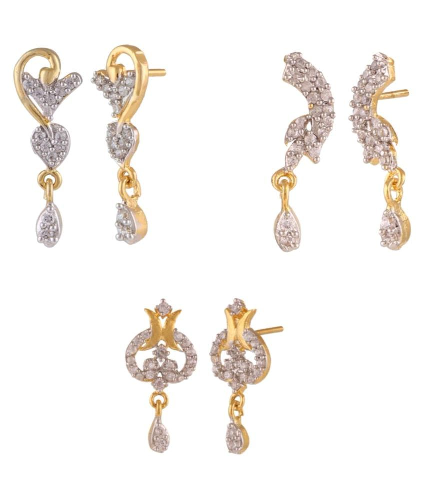 Archi Collection Multicolour Drop Earring Pair of 3
