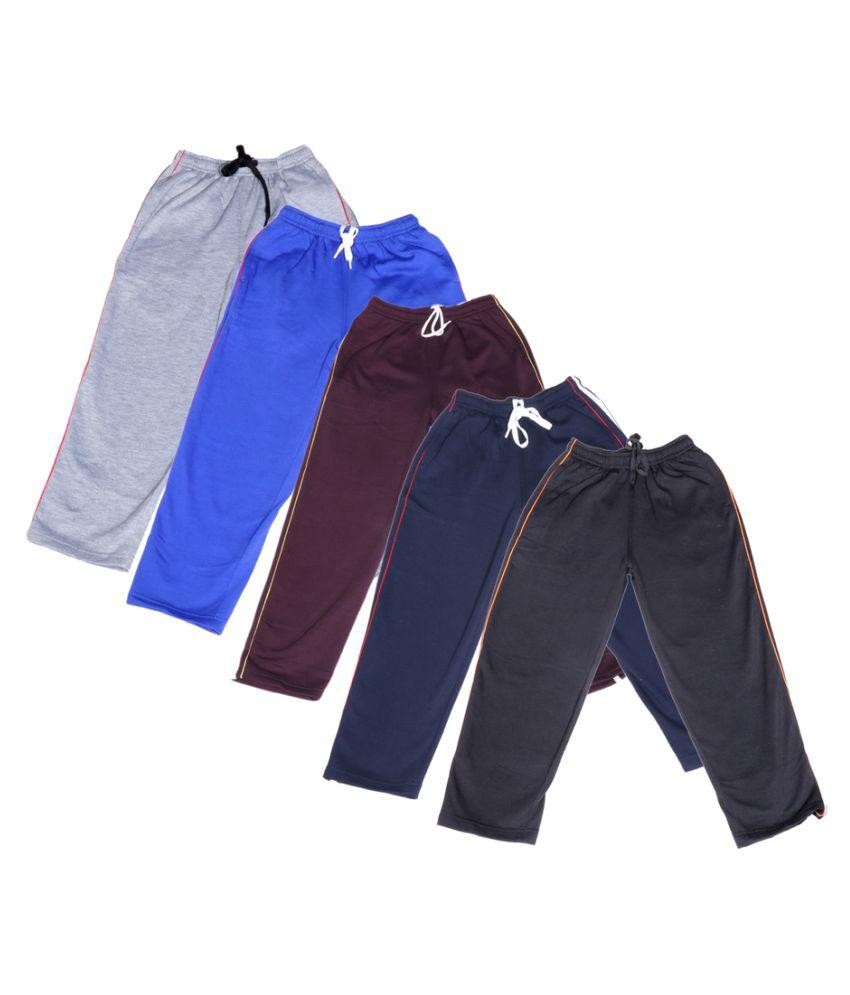 IndiWeaves Multicolour Pyjamas Pack of 5
