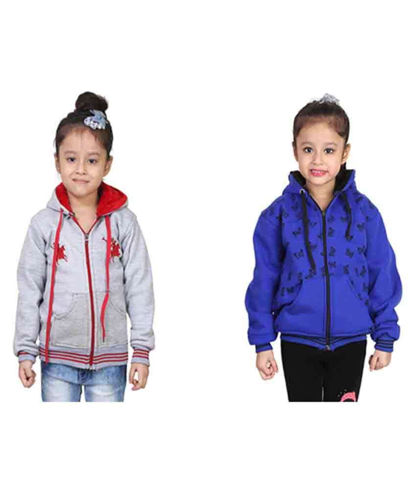 Qeboo Multi Sweatshirt For Gril's - Pack of 2