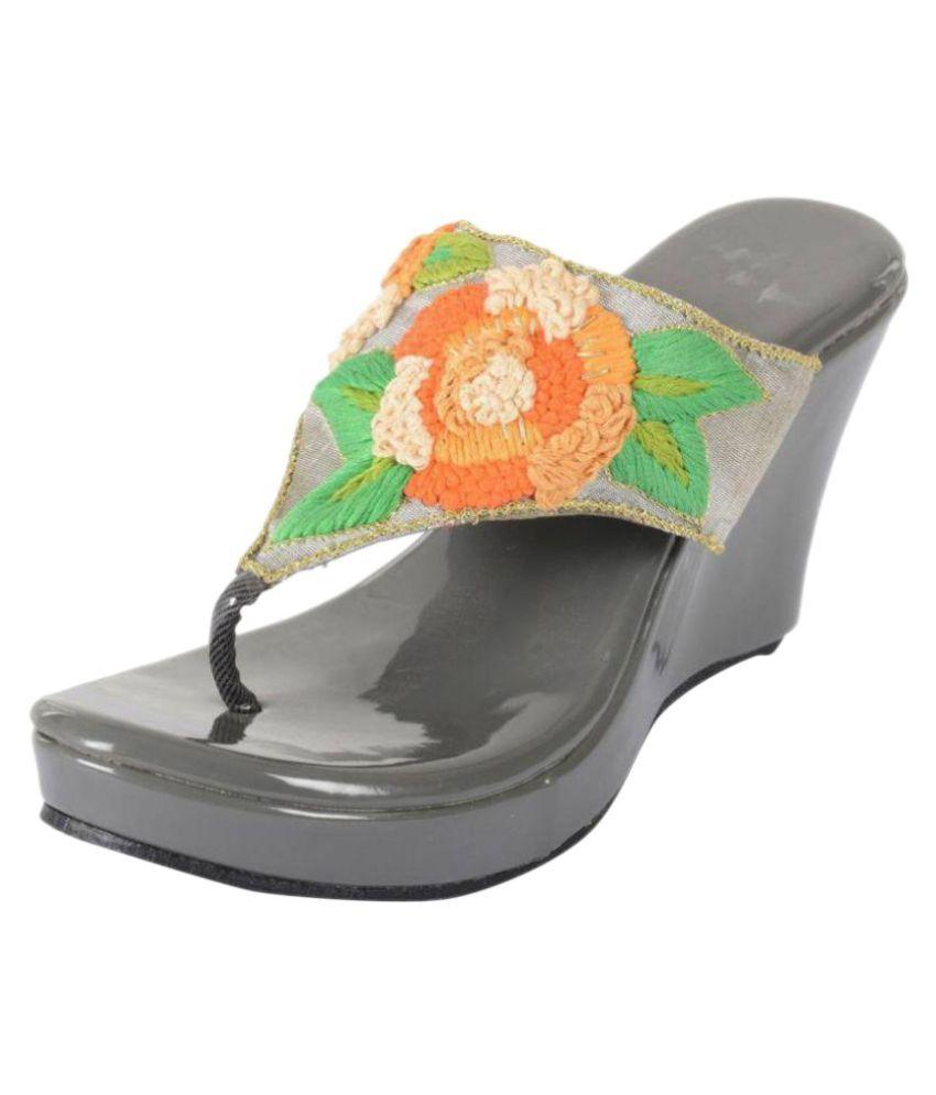 Praags Multi Color Wedges Heels