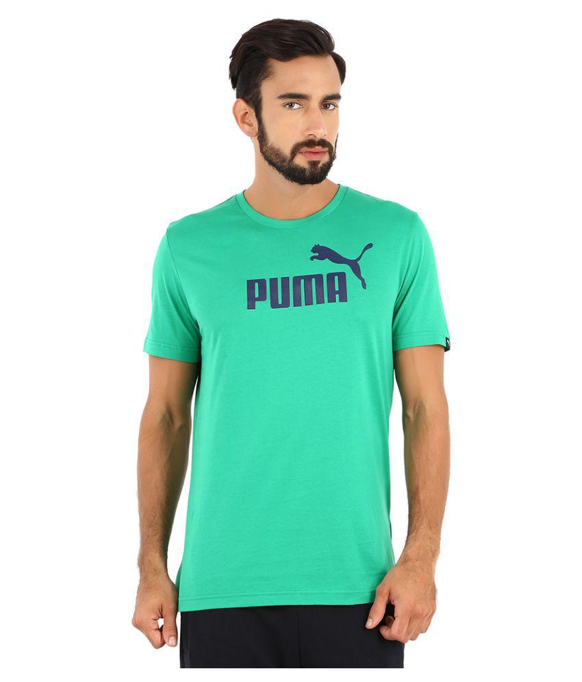 Puma Green Polyester T-Shirt