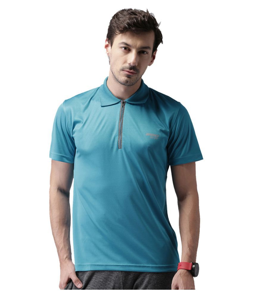 2go Teal Polyester Polo T-Shirt Single Pack