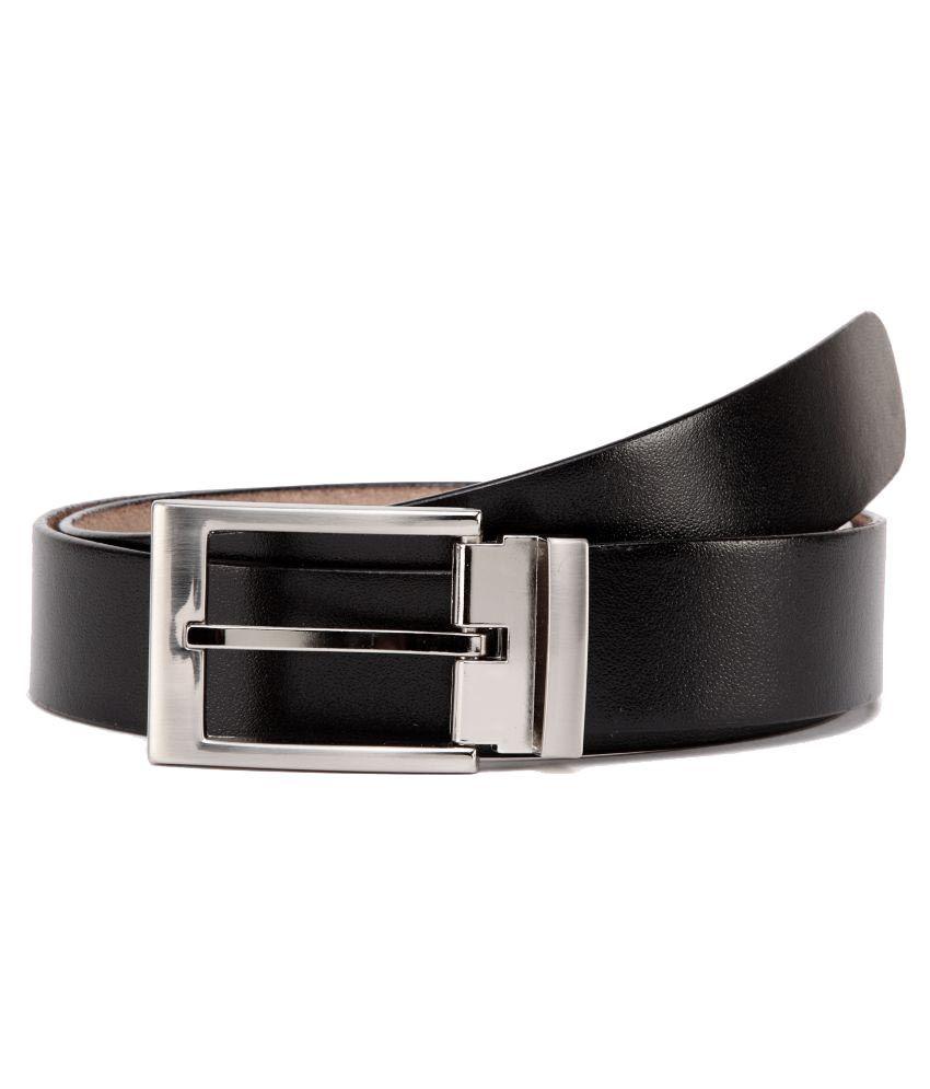 U+N Black Leather Formal Belts