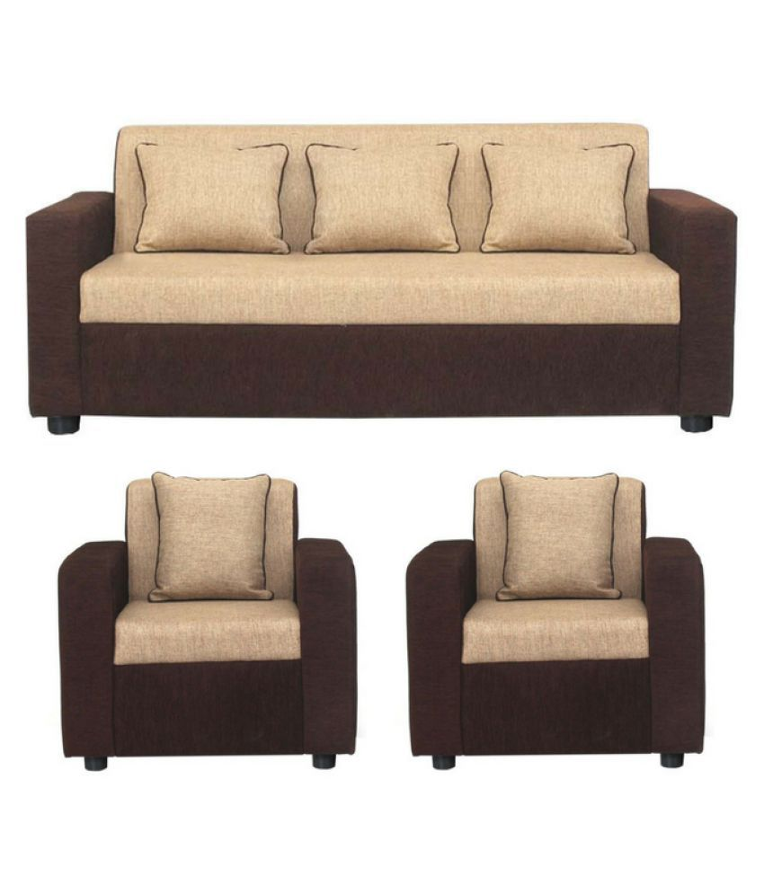 Gioteak Sofia Fabric 3 1 1 Sofa Set Buy Gioteak Sofia