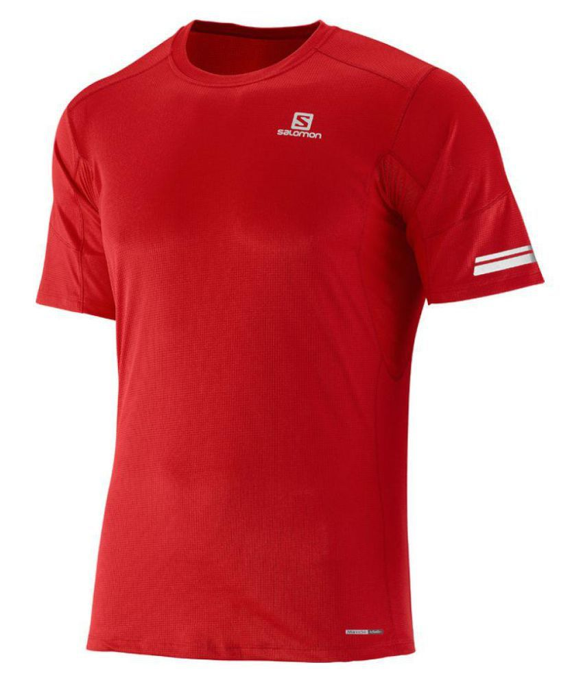 Salomon Red Cotton T Shirt