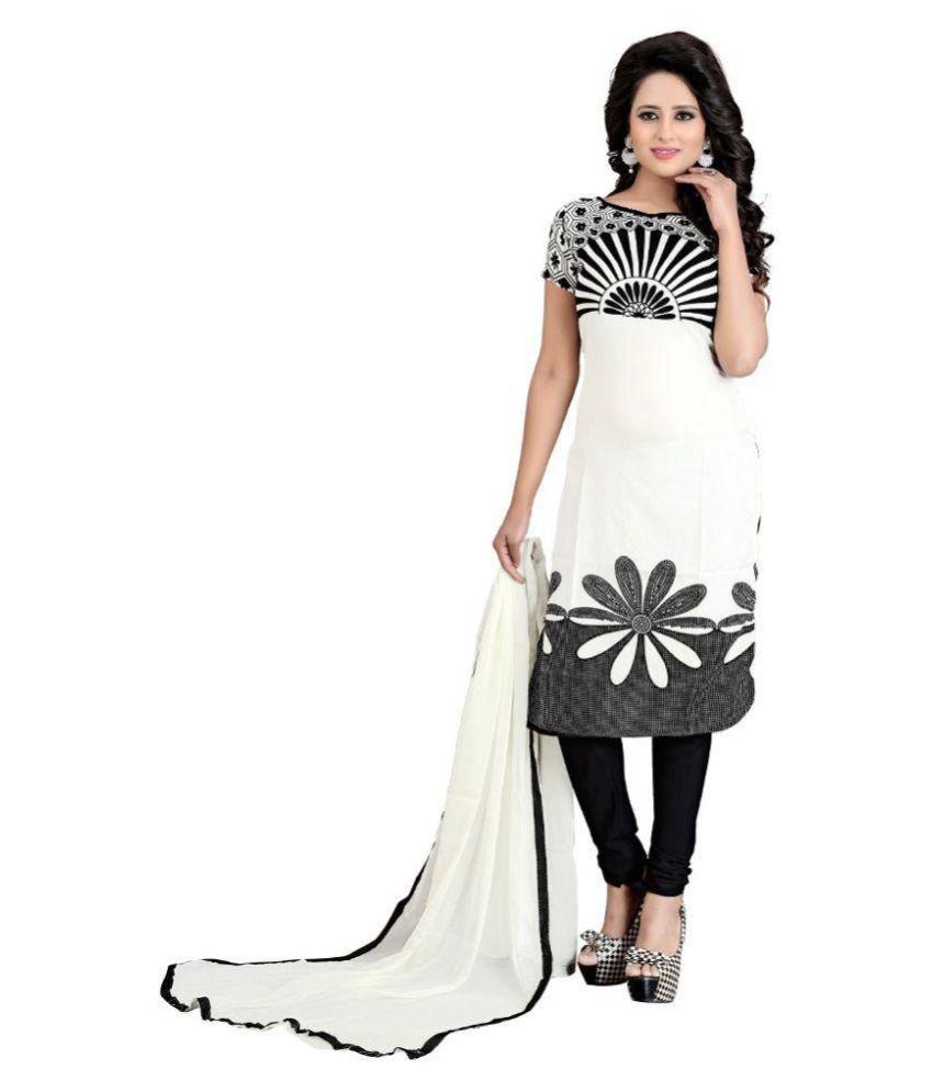 V/S Fashion Multicoloured Cotton Silk Dress Material