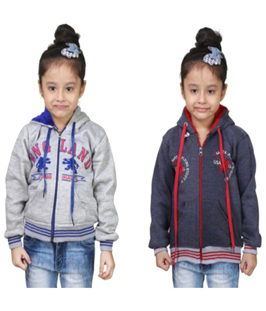 Crazeis Multicolour Sweatshirt - Pack of 2