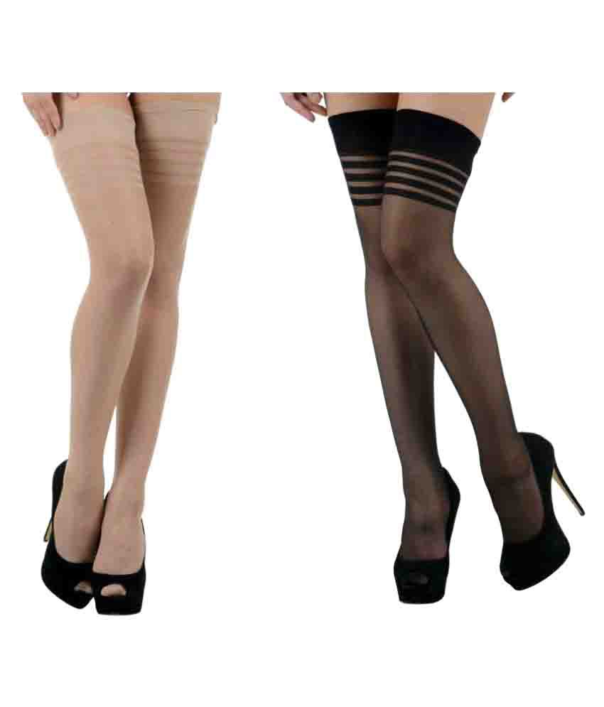183082500 Nxt 2 Skin Multicolour Stockings - Pack of 2  Buy Online at Low Price in  India - Snapdeal