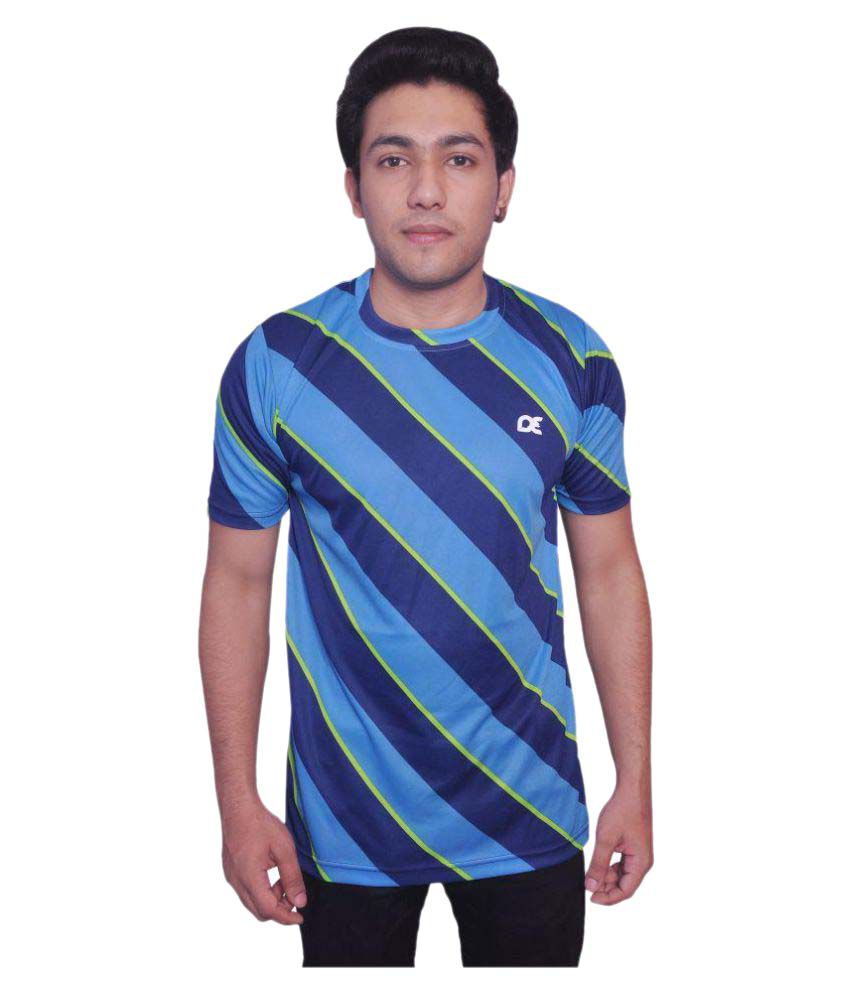 Dyed Colours Blue Polyester T-Shirt Single Pack