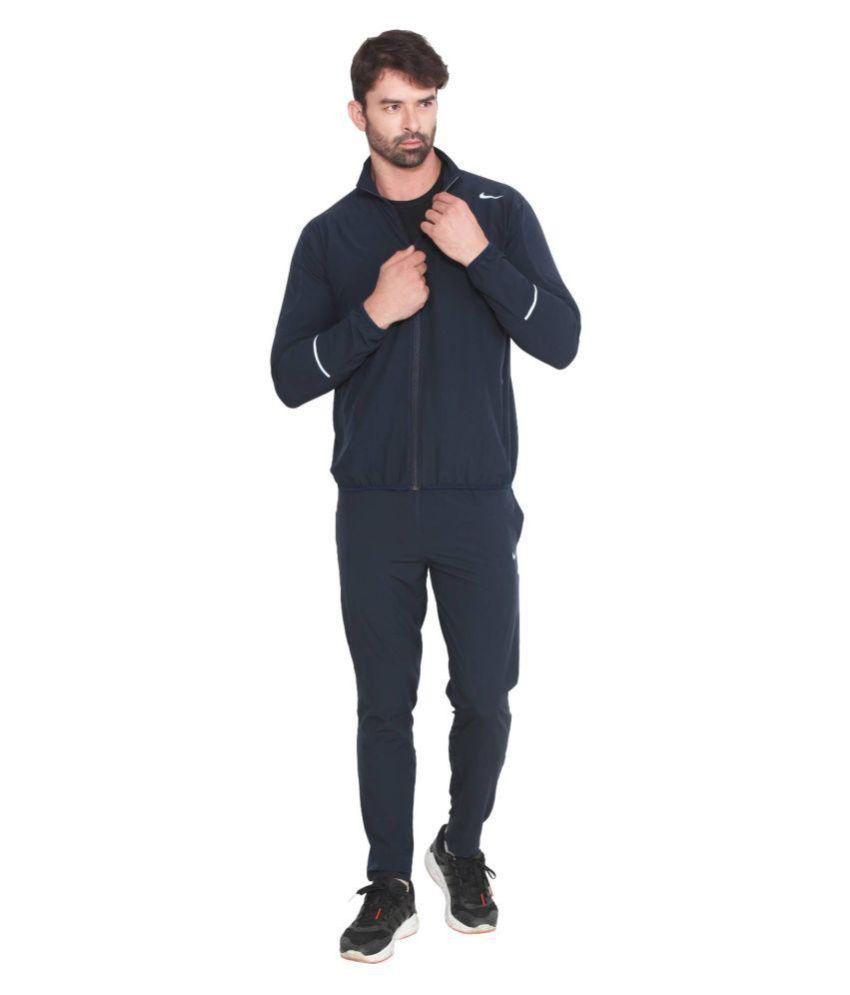 Nike Blue Polyester Lycra Tracksuit Single ...