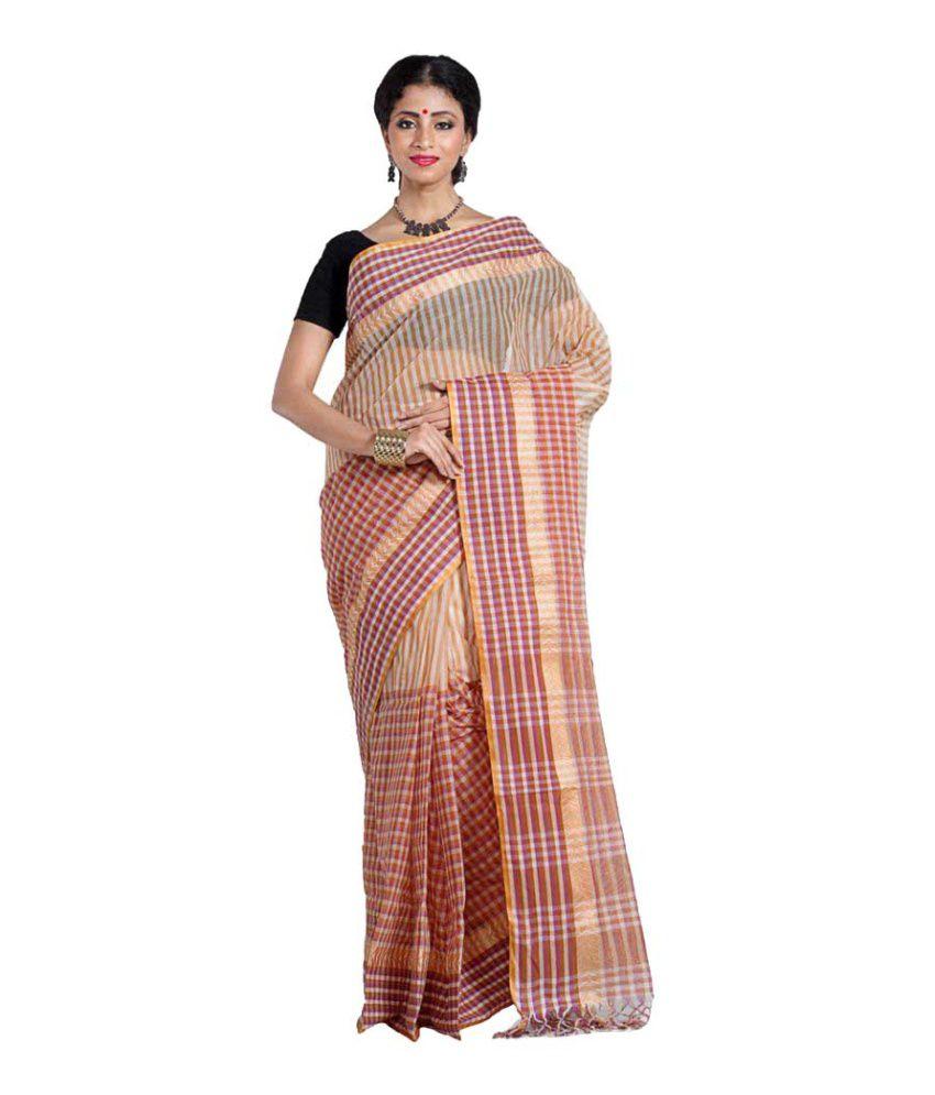 Badal Textiles Multicoloured Cotton Saree