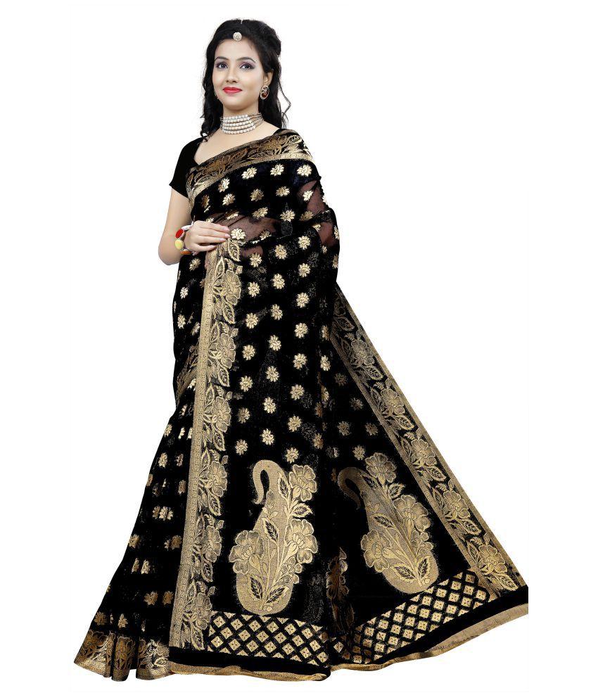 Azara Lifestyle Black Jamdani Saree