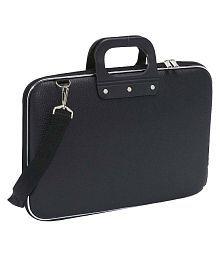 La Corsa lapbc-17 Black Leather Briefcase- 16 Inch