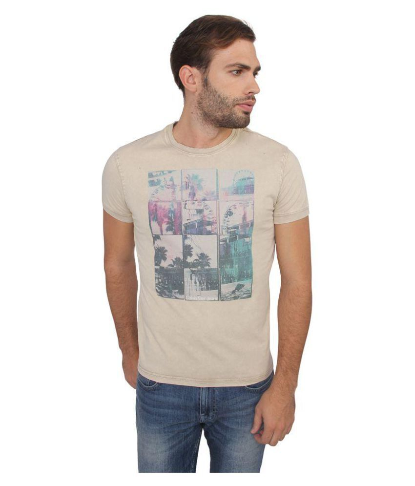 Calvin Klein Beige Round T-Shirt