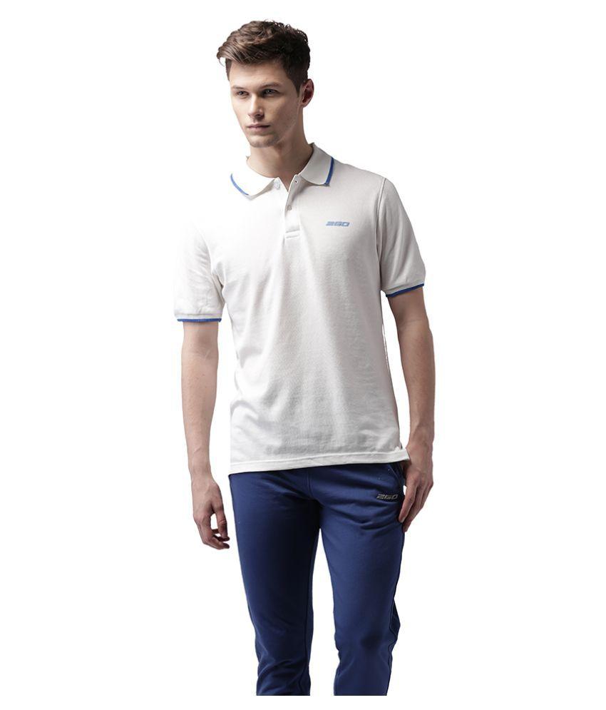 2GO White Cotton Polo T-shirt