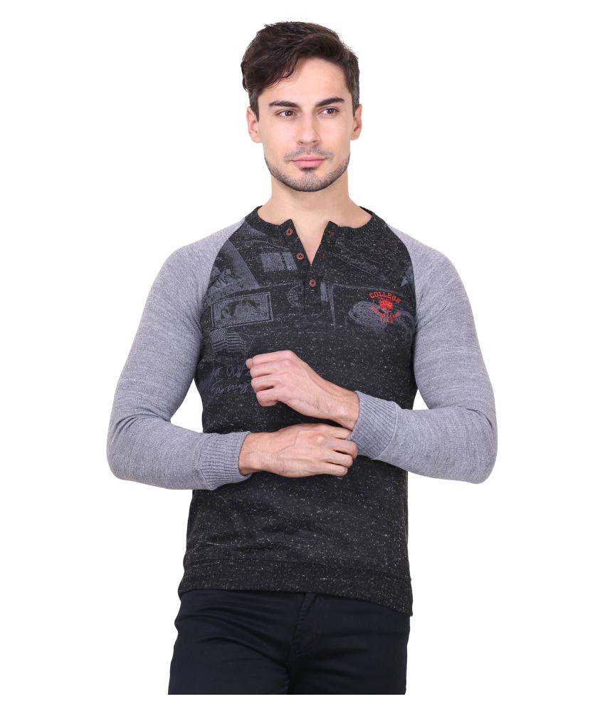 Bravezi Black Round T-Shirt