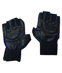 Greenbee Gym Gloves Black Blue AL