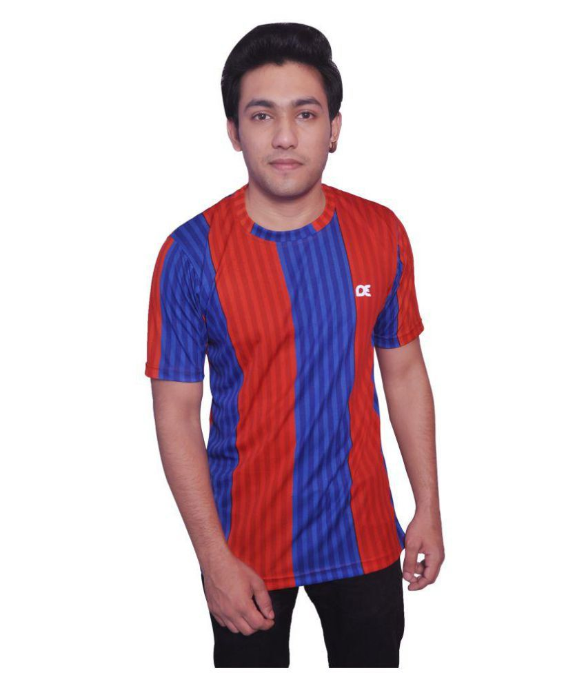 Dyed Colours Multi Polyester T Shirt