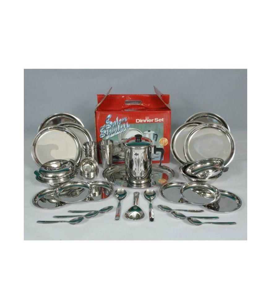 sail salem stainless steel dinner set of 37 buy online at best rh snapdeal com