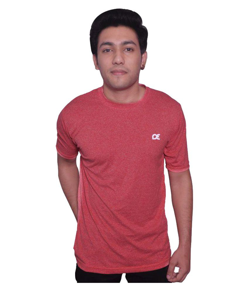 Dyed Colours Pink Polyester T-Shirt