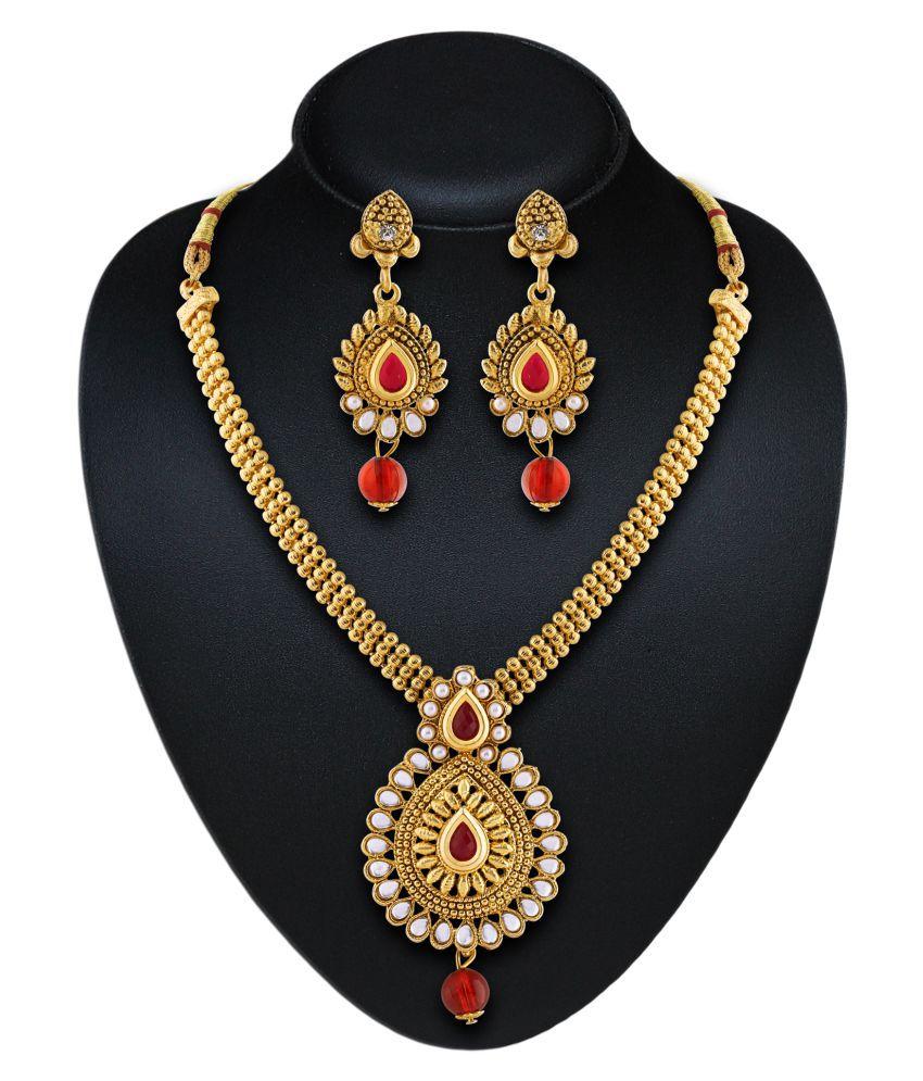 Rich Lady Wedding Wear Classy Necklace Set
