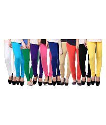 Aashish Fabrics Lycra Pack of 10 Churidar Leggings