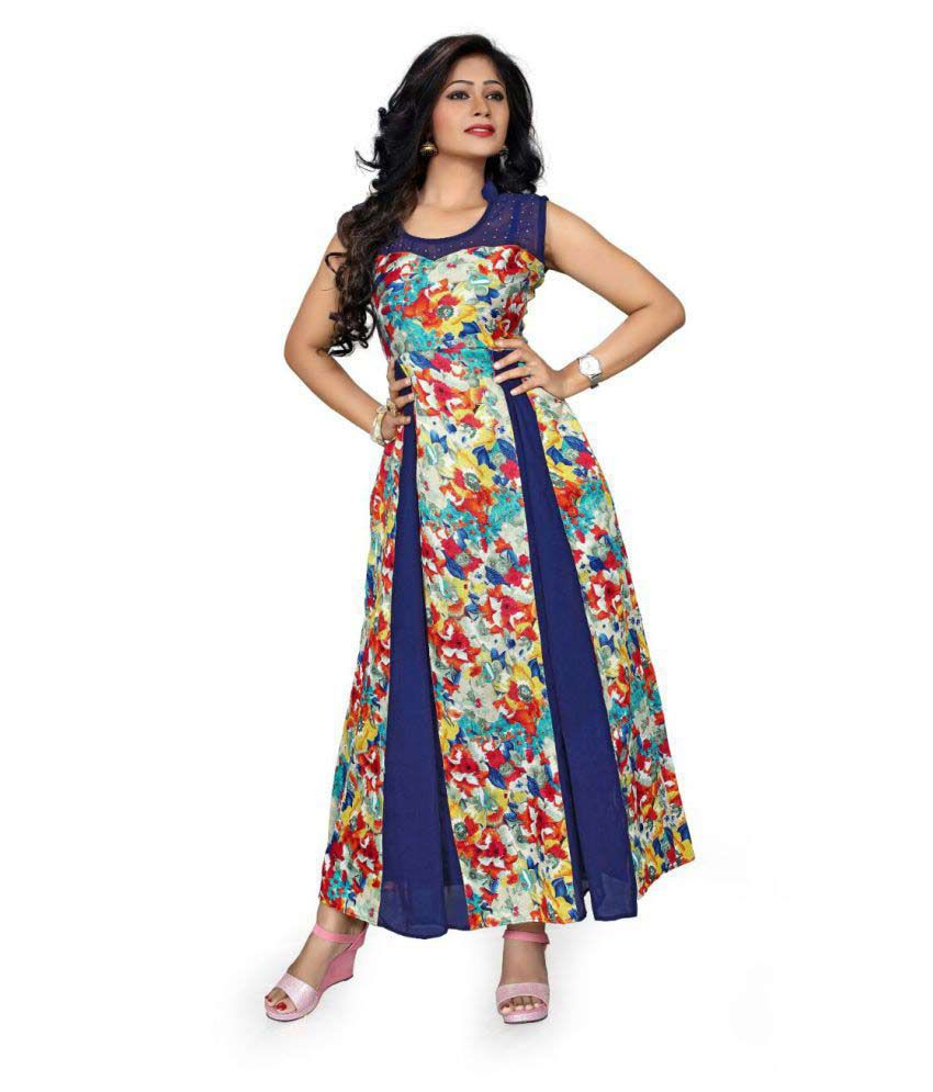 Amardeep Creation Multicoloured Net Dress Material
