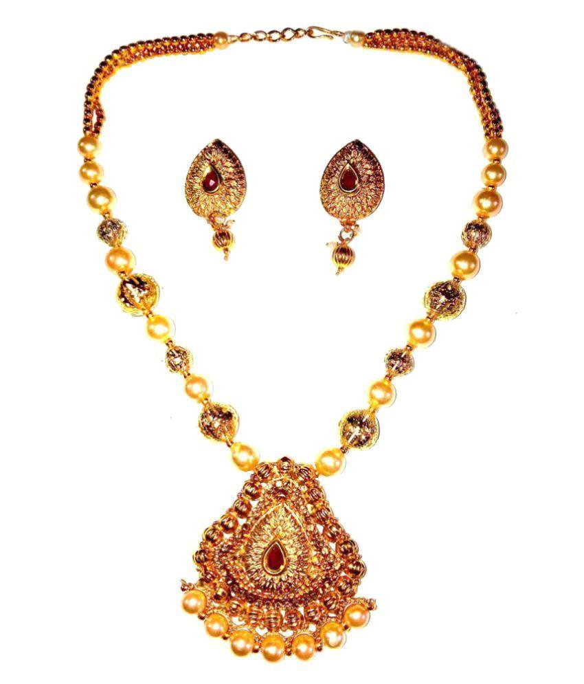 Shrungarika Traditional Golden Necklace Set