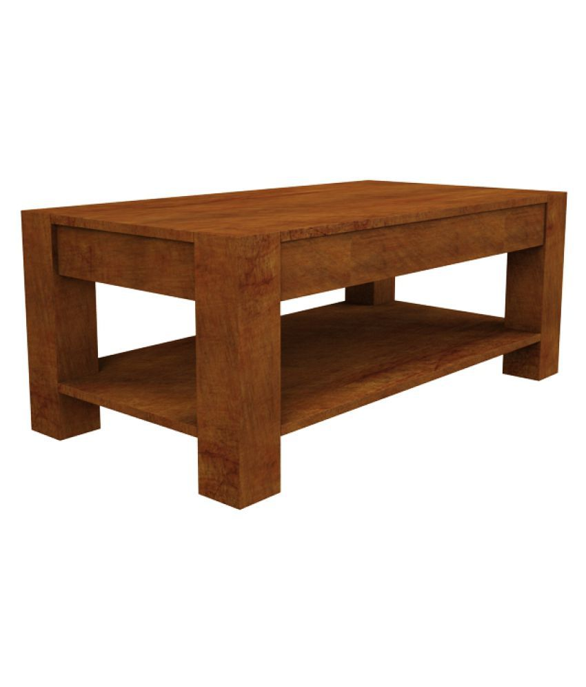Solid Wood Coffee Table Online India: Amaani Furniture Thar Solid Wood Coffee Table