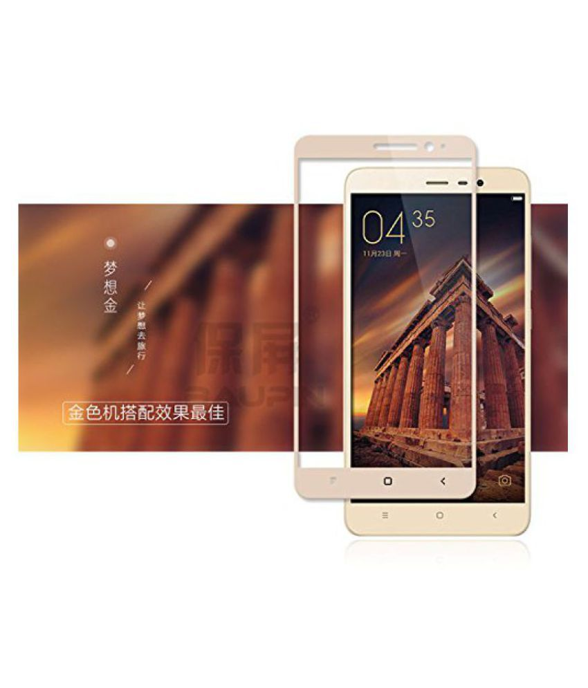 CASECART Curved 2.5D Full Screen Replacement Tempered Glass Film For Xiaomi Redmi Note 3 - GOLD