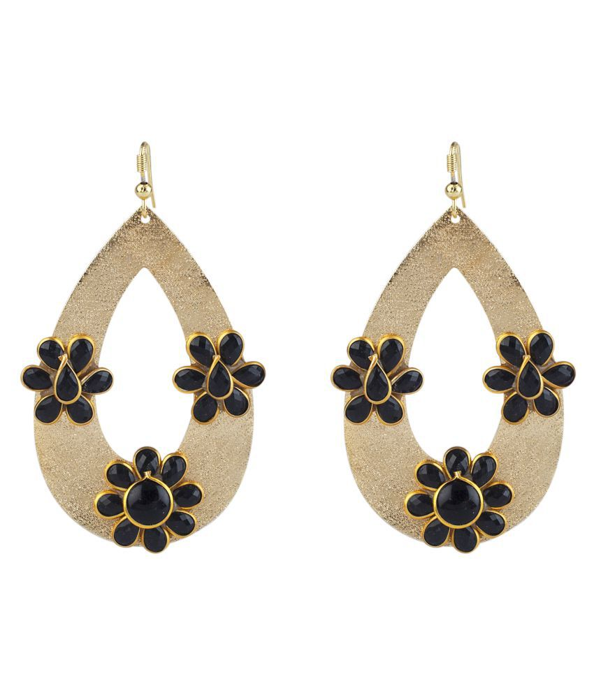 Makezak Golden Hanging Earrings