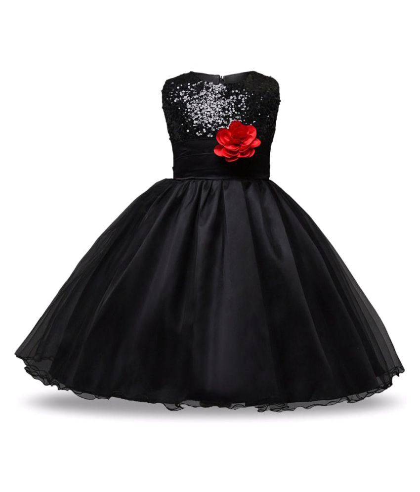 a3e94529202 Sofyana Black Satin Girl Birthday Party Wear Dress girl frock Birthday Party  dress kids Party wear dress - Buy Sofyana Black Satin Girl Birthday Party  Wear ...