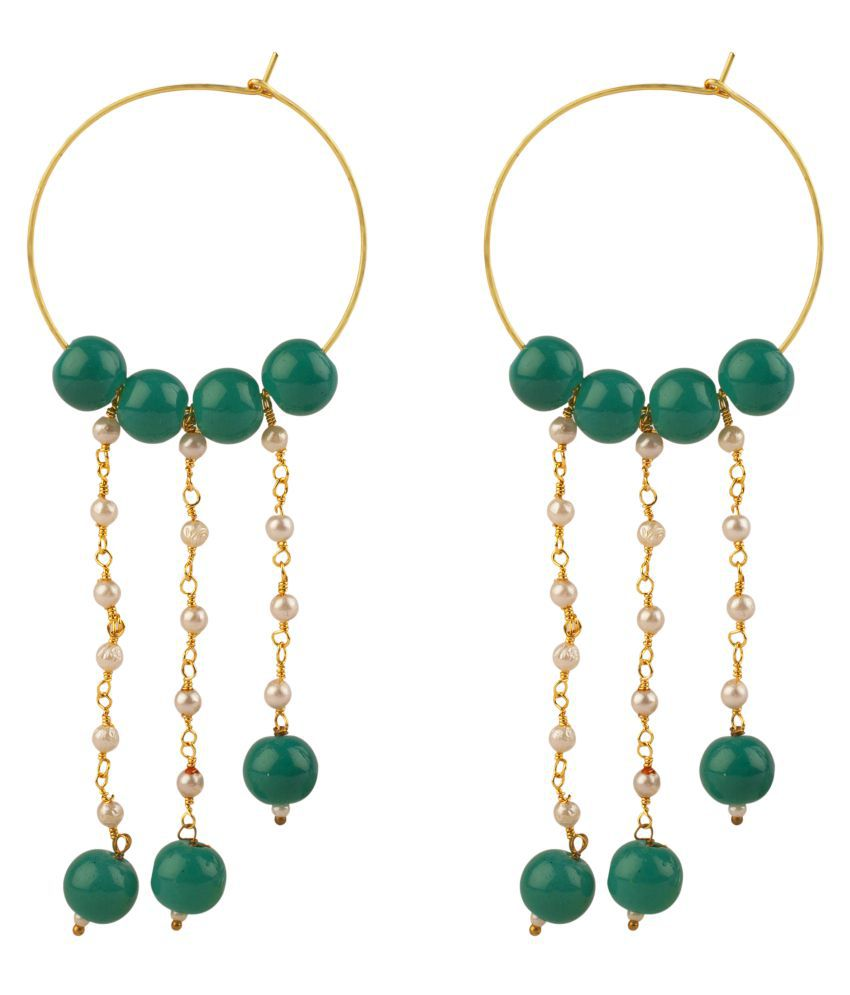 Makezak Green Brass Earrings