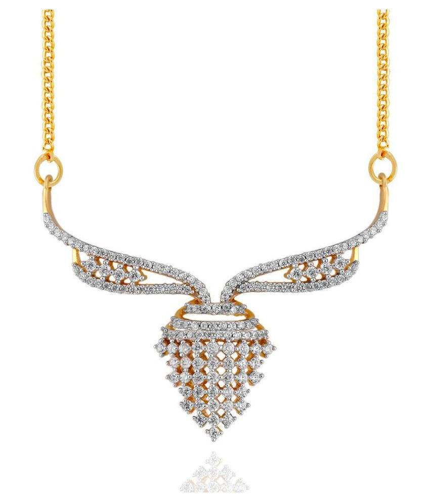 Maya Diamonds 18k Yellow Gold Diamond Mangalsutra