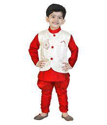 Generation Next Maroon Indo Western For Boy