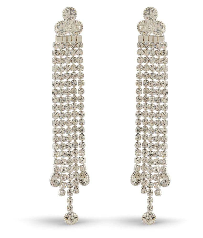 Rich Lady Silver Hanging Earrings