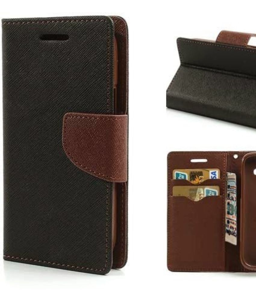 Vivo Y21 Flip Cover by Trap - Brown