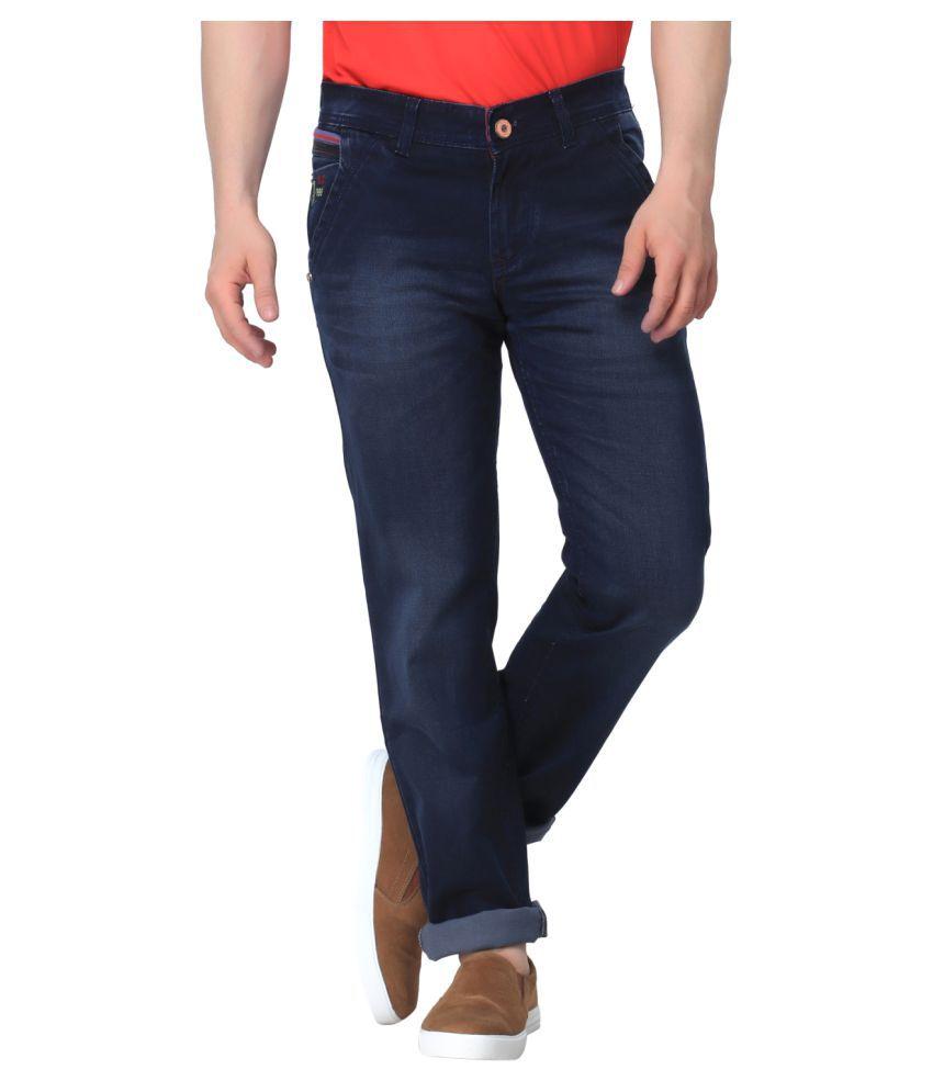 Gabon Navy Blue Regular Fit Jeans