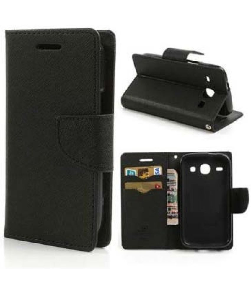 Lenovo A6000 Flip Cover by Coverup - Black