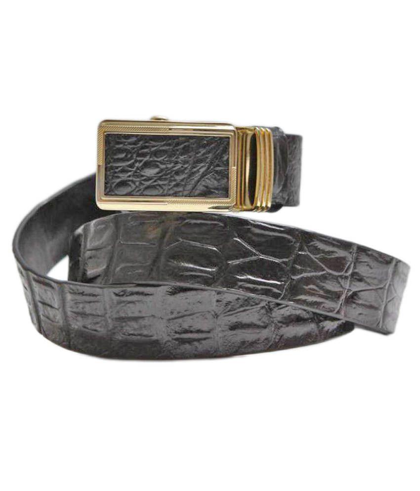 Raza Inetrnational Black Leather Casual Belts