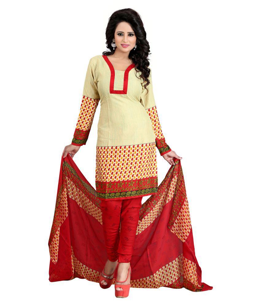 Z Hot Fashion Beige Crepe Dress Material